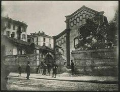 1898: la breccia aperta nel muro dei Cappuccini a viale Piave da una cannonata di Bava Beccaris