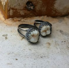 Single Tooth Ornate Ring Made in your size by ExtolloJewelry