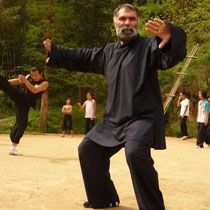 Gang Voigt's picture of studing Kung Fu at Wudang Daoist Martial Arts Academy. wudangmartialarts.com