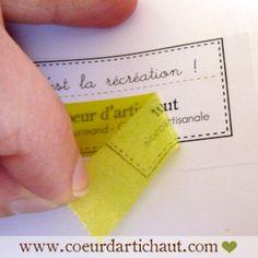 Astuce Coeur d'artichaut : impression sur masking tape