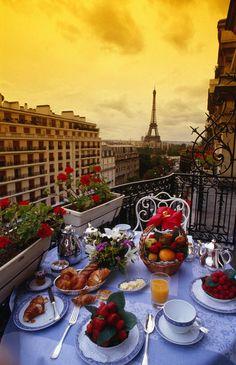 **Breakfast at Plaza Athenee, Paris