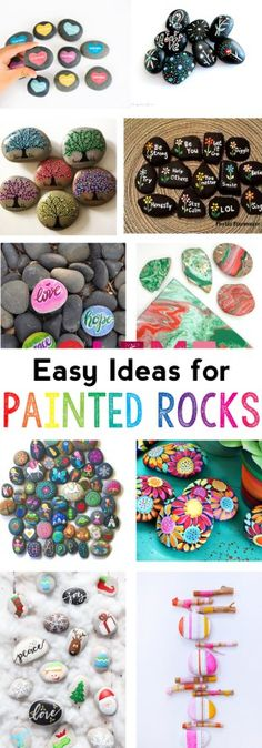 painted rock ideas | easy rock painting ideas | painted rocks for kids | how to paint rocks