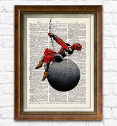 Deadpool Dictionary Art Print