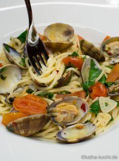 Spaghetti Vongole nach Jamie Oliver - katha-kocht!
