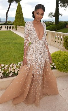 0c88a981b3a Chanel Iman in Zuhair Murad Couture Chanel Iman