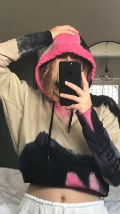 #ootd #fashion #mirrorselfie #skirt #hoodie #zadigvoltaire #camouflage #iphone #vintage #alotofshiitt Dip Dye, Camouflage, Rain Jacket, Windbreaker, Ootd, Hoodie, Tie, Crop Tops, Photo And Video