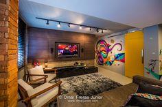 Omar Junior - Fotografia e Edição | Grafite confere atitude a living