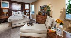 #MountainHouseCA #NewHomes #Heritage Heritage by Woodside Homes - Steinbeck Model Master Bedroom