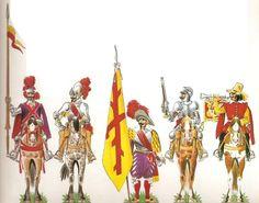 Los Tercios Españoles | El ascenso se debía a aptitud y méritos, pero primaban también mucho la antigüedad y el rango social. Para ascender se solía tardar como mínimo 5 años de soldado a cabo, 1 de cabo a sargento, 2 de sargento a alférez y 3 de alférez a capitán. El capitán de una compañía de Tercio era el mando supremo que debía rendir cuentas ante el sargento mayor, que a su vez era el brazo derecho del maestre de campo