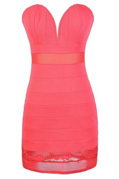 Passionate Kisses Banded Plunging Neckline Bodycon Dress  www.lilyboutique.com