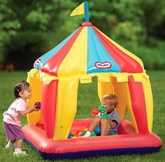 The perfect activity tent for a first birthday party