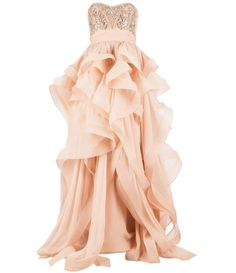 Farfetch - REEM ACRA embellished ruffled dress