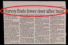 A headline writer Fawned of stating the obvious...