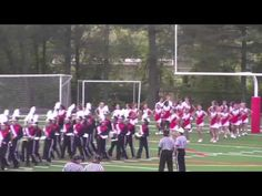 Flags and Marching Band First Home Game 2013 - YouTube