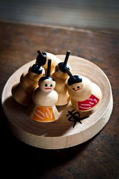 Sumo Koma - Traditional Japanese spinning top. The idea is to have two of these toys spinning at the same time and see if one can knock the other over