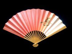 Vintage Japanese Hand Fan Kanji Favor Favour by VintageFromJapan, $9.50