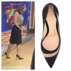 Good Morning America: May 2016 Ginger's Black Suede and Tulle Keyhole Pumps