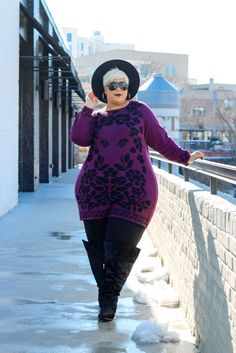 44 Totally Inspiring Plus Size Winter Outfits Ideas - Aksahin Jewelry Outfits Winter, Plus Size Winter Outfits, Plus Size Fall Outfit, Plus Size Outfits, Plus Size Fashion Blog, Curvy Women Fashion, Women's Fashion, High Fashion, Fashion Ideas