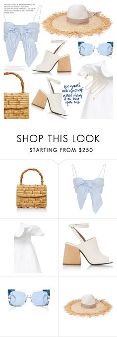 """Summer breeze"" by jan31 ❤ liked on Polyvore featuring Glorinha Paranagua, Leal Daccarett, White Story, Marni, Pared, Été Swim, TIBI, White/Space, Summer and shorts"