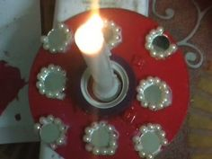 DIY Music CD / DVDs Make Candle Stand / Mombatti