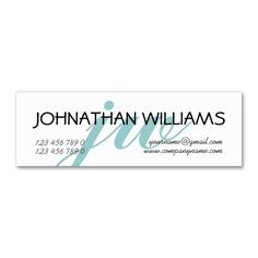 Monogrammed professional blue powder Double-Sided mini business cards (Pack of 20). I love this design! It is available for customization or ready to buy as is. All you need is to add your business info to this template then place the order. It will ship within 24 hours. Just click the image to make your own!
