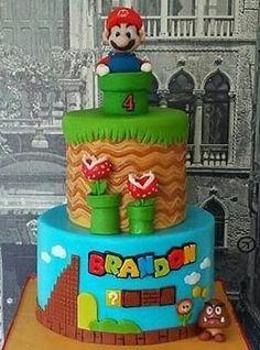 bolo super mario fake #bolomario #bolosupermario #festamario #mariobros Bolo Super Mario, Super Mario Bros, Mario E Luigi, Cakes, Birthday, Desserts, Mario Bros, Cake Ideas, Whipped Cream