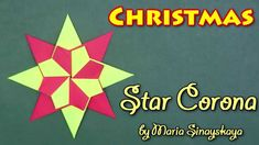 Christmas Origami Star Corona by Maria Sinayskaya - Yakomoga Origami tutorial - YouTube