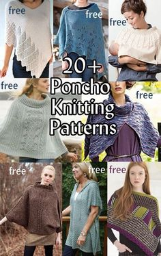 Bio Social Latest Posts By: Terry Matz Terry is a knitting late-bloomer, learning to knit as an adult from Internet tutorials, because she wanted a craft that w Poncho Knitting Patterns, Shawl Patterns, Crochet Poncho, Knit Or Crochet, Loom Knitting, Free Knitting, Knitting Machine, Cardigan Pattern, Bolero