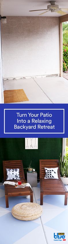 You can easily makeover your patio from drab to fab with this how-to and a little help from ScotchBlue™ Painter's Tape for Exterior Surfaces