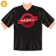 Geburtstags V-Ausschnitt T-Shirt <-> 40 Jahre on Tour <-> Fun Geschenk, Goodman Design® Schwarz (*Partner-Link)