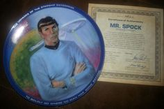 Star Trek Collector Plate - Mr. Spock on Etsy
