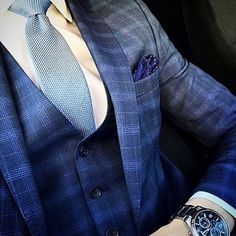 #suit #lovesuits #ilovesuits #suitup #fashion #instafashion #dandy #dapper #vest #watch #welldressed #menswear #professional #color #attire #gentleman #tailored #haveaniceday