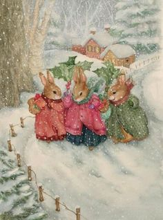 We are professional Susan Wheeler supplier and manufacturer in China.We can produce Susan Wheeler according to your requirements.More types of Susan Wheeler wanted,please contact us right now! Susan Wheeler, Noel Christmas, Vintage Christmas Cards, Christmas Pictures, Vintage Cards, Christmas Bunny, Winter Christmas, Illustration Noel, Christmas Illustration