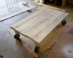 Ready for the easiest project ever?I was at a loss when it came to what I should use for a coffee table for our sunroom. Here is the space I had to work with…I didn't want anything too …