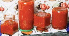 Tradiční Adžiku z Oděsy bez cukru a octa recept Lunge, Korn, Hot Sauce Bottles, Preserves, Pillar Candles, Pickles, Good Food, Pesto, Food And Drink
