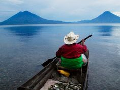 Lake Atitlan in San Pedro Guatemala. It was a mega Volcano that exploded and the lake was created. It is surrounded but other Volcanos now. It was great seeing the locals fish each day.