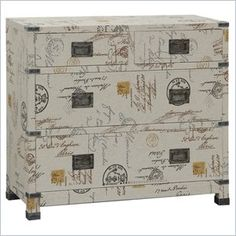 Pulaski Accents Artistic Expressions Accent Chest in Kingston - This stunning Pulaski chest features a postcard style motif, recessed drawer pulls and metal hasp accents.