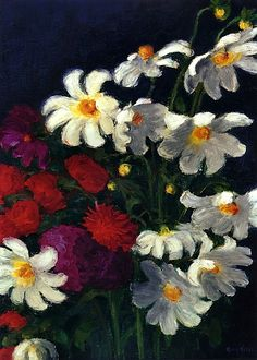 bofransson:  White and Red Dahlias Emile Nolde - 1937