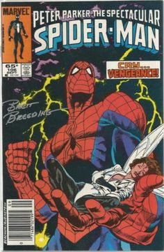 Spectacular Spider-Man 106 Signed Brett Breeding Wasp Paladin Starfox Avengers…__XVI__