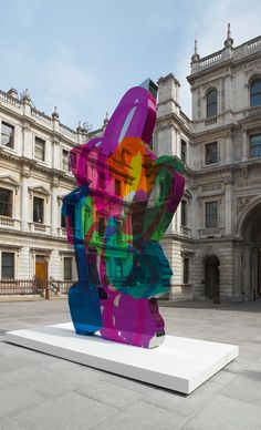 Jeff Koons, Colouring Book, 1997-2005. Steel with coloured coating, 563.9 x 334 x 23.2 cm, 1 of 5 versions.