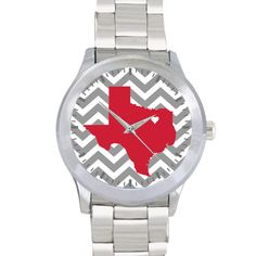 Personalized Stainless Steel State Love Watch - Chevron on Etsy, $25.00