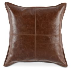 Featured in a rich chocolate brown color, the Kosas Home Cheyenne Leather Throw Pillow highlights the many variations in its genuine leather cover. Leather Throw Pillows, Leather Pillow, Toss Pillows, Leather Fabric, Throw Pillow Sets, Accent Pillows, Pillow Talk, Fur Pillow, Brown Throws