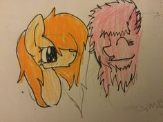 Fluffle puff and tiger lily (sorry the coat looks yellow XD I swear it's orange XD)