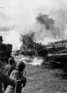 The sinking of the USS Franklin. 19th March 1945.