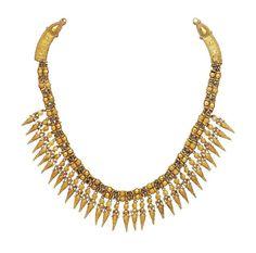A Superb Gold Strap Necklace. Hellenistic Greek, ca 330 - 300 B.C. | phoenixancientart