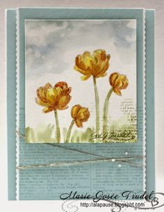 A La Pause:  Marie-Josée Trudel, Eclosion d'Espoir, Bloom with Hope, Stampin' Up!, SU, cartes, cards