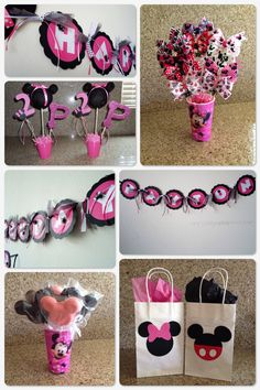 Minnie Mouse party ideas..  https://www.facebook.com/pages/Brookes-Crazy-Monkey-Creations/588025634548428?ref=bookmarks
