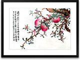 Art of Silk ~ Hand Designed Silk Art, Silk Embroidery - Birthday Peaches $139.99
