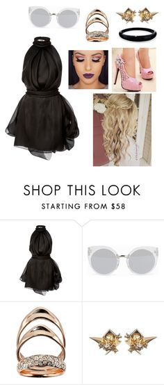 """""""Sem título #2193"""" by mariana-mester-vianna ❤ liked on Polyvore featuring Brandon Maxwell, Quay and Alexis Bittar"""