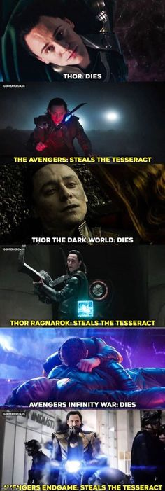 Life Circle of Loki in the MCU <-- Class, this is the life cycle of the mysterious, ancient Loki. The Loki can usually be found near danger, or the tesseract. If the Loki can not be found at the tesseract or danger, check your nearest UNnatural disaster. Avengers Humor, Marvel Avengers, Hero Marvel, Funny Marvel Memes, Dc Memes, Marvel Jokes, Marvel Universe, Disney Marvel, Hilarious Memes
